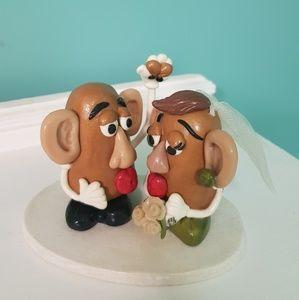 Mr & Mrs Potato Head cake topper